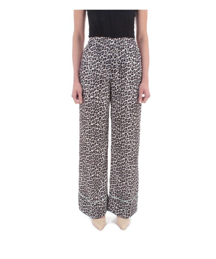 Image for MY TWIN WOMEN'S 201MP244204702 MULTICOLOR POLYESTER PANTS