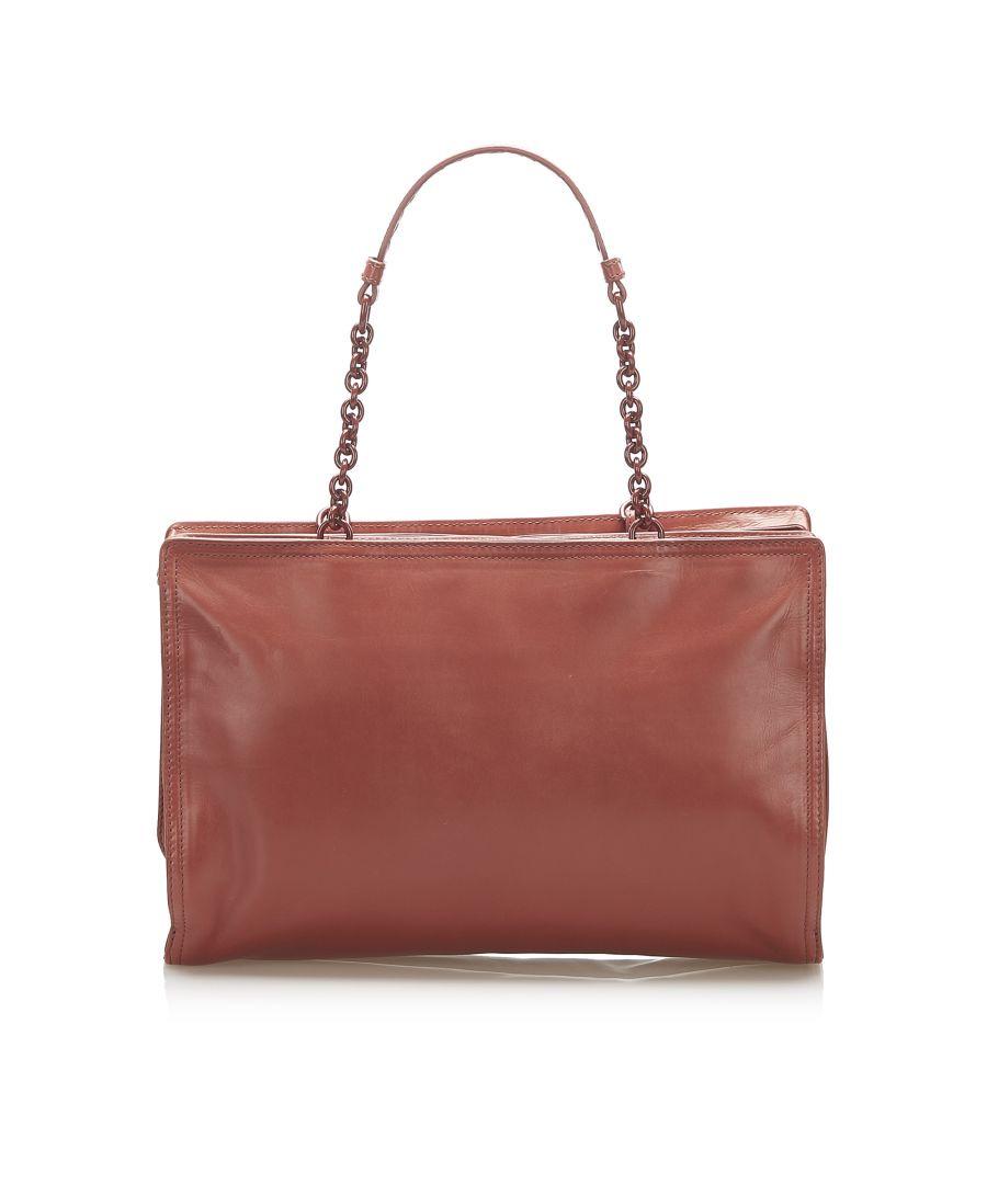 Image for Vintage Bottega Veneta Leather Shoulder Bag Brown