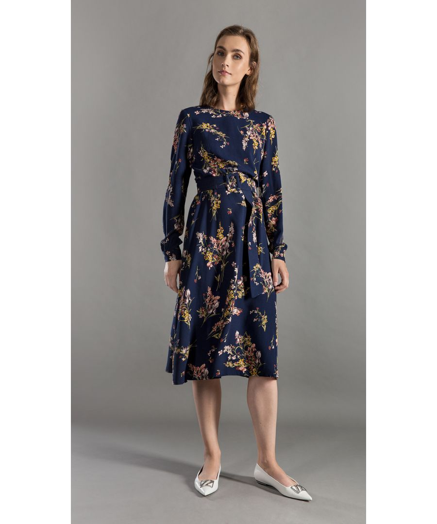 Image for Minnie Floral Navy Dress