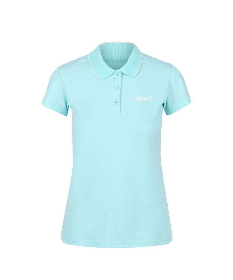 Image for Regatta Womens/Ladies Maverick V Polo Shirt (Cool Aqua)