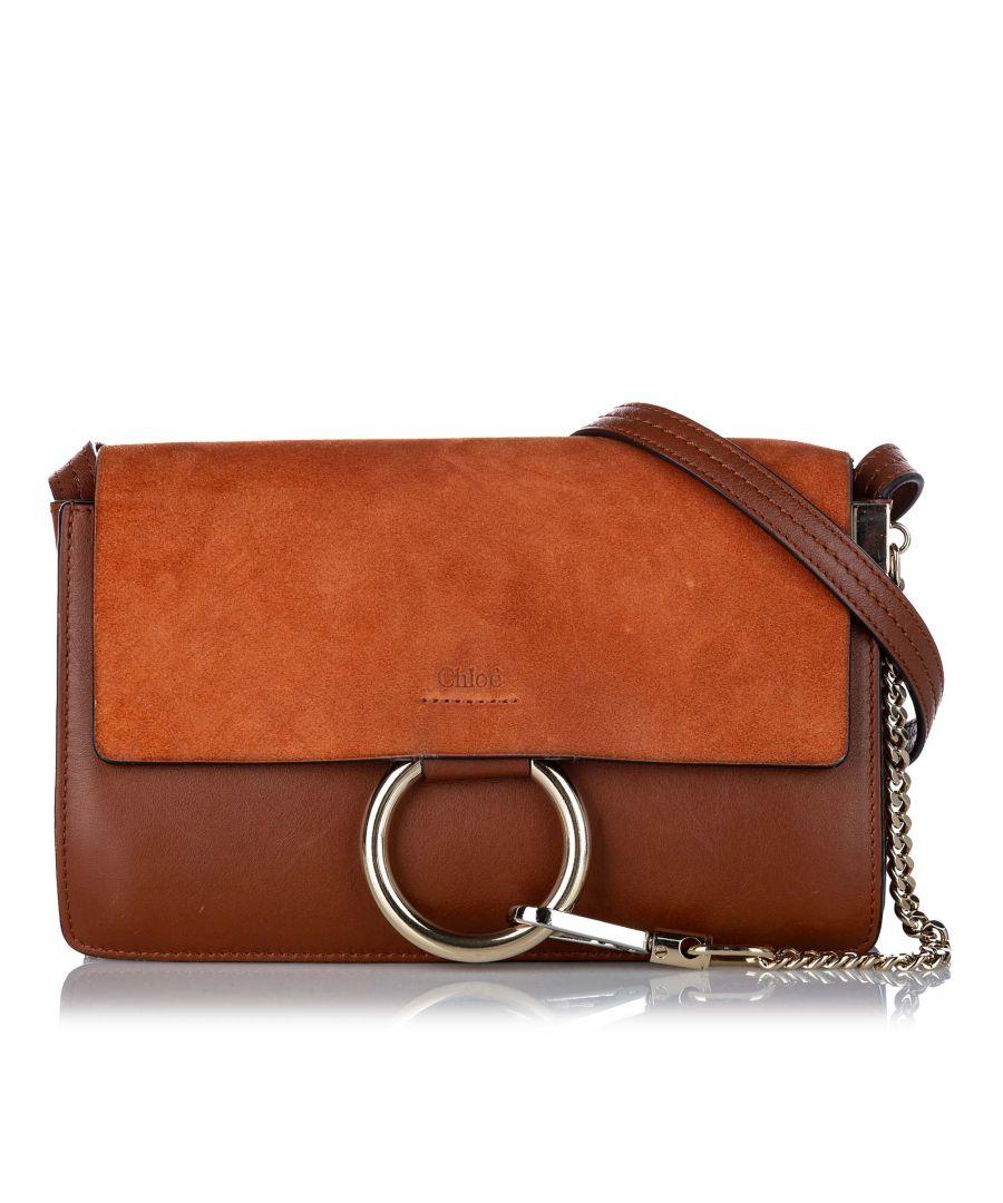 Image for Vintage Chloe Faye Leather Crossbody Bag Brown