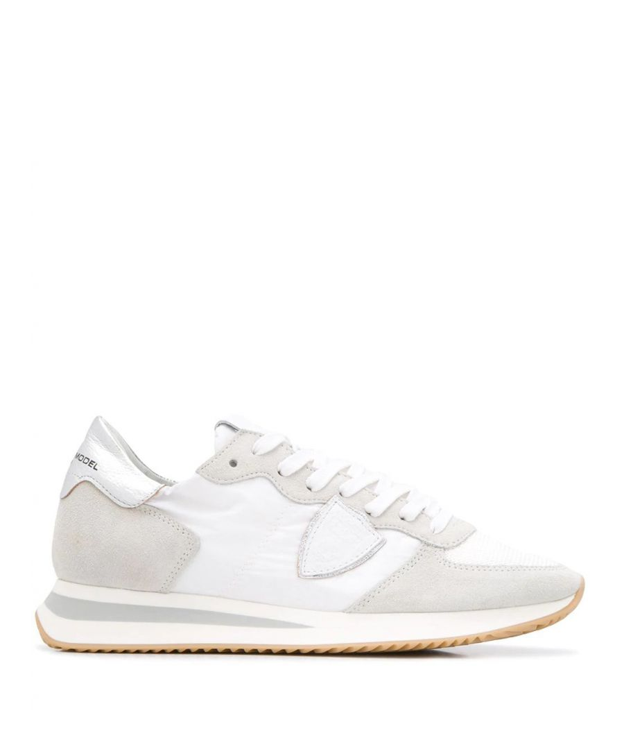 Image for PHILIPPE MODEL WOMEN'S TZLDW042 GREY LEATHER SNEAKERS