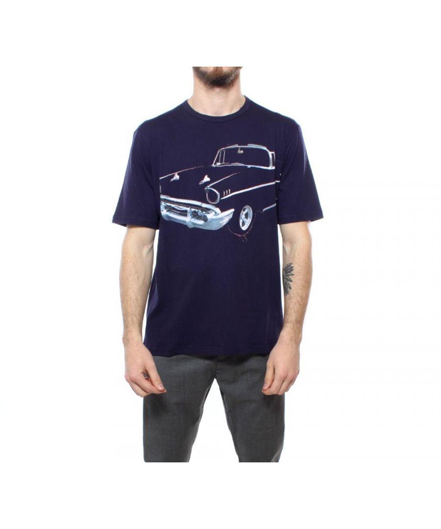 Image for N°21 MEN'S F04163176467 BLUE COTTON T-SHIRT