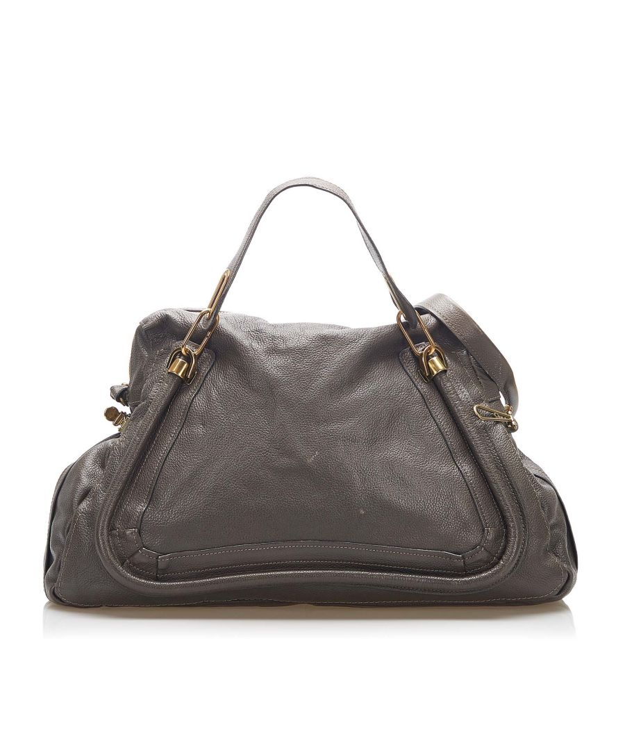Image for Vintage Chloe Paraty Leather Satchel Gray
