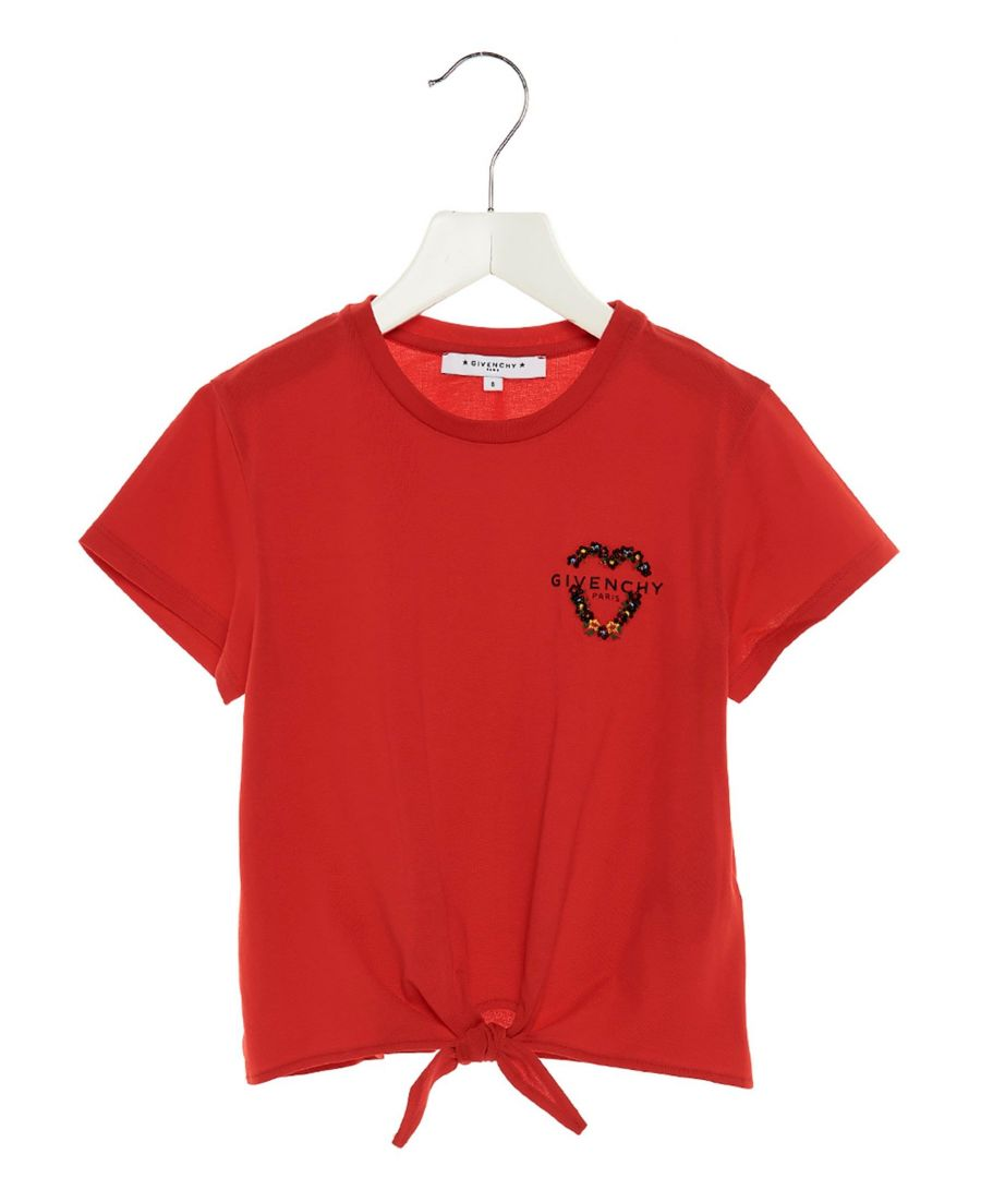 Image for GIVENCHY GIRLS H15156991 RED COTTON T-SHIRT