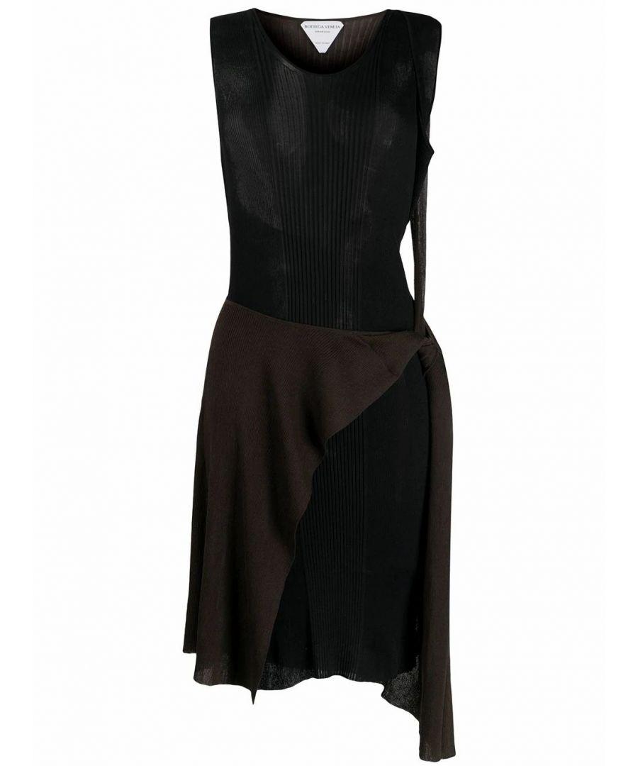 Image for BOTTEGA VENETA WOMEN'S 621282VKTP02500 BLACK COTTON DRESS