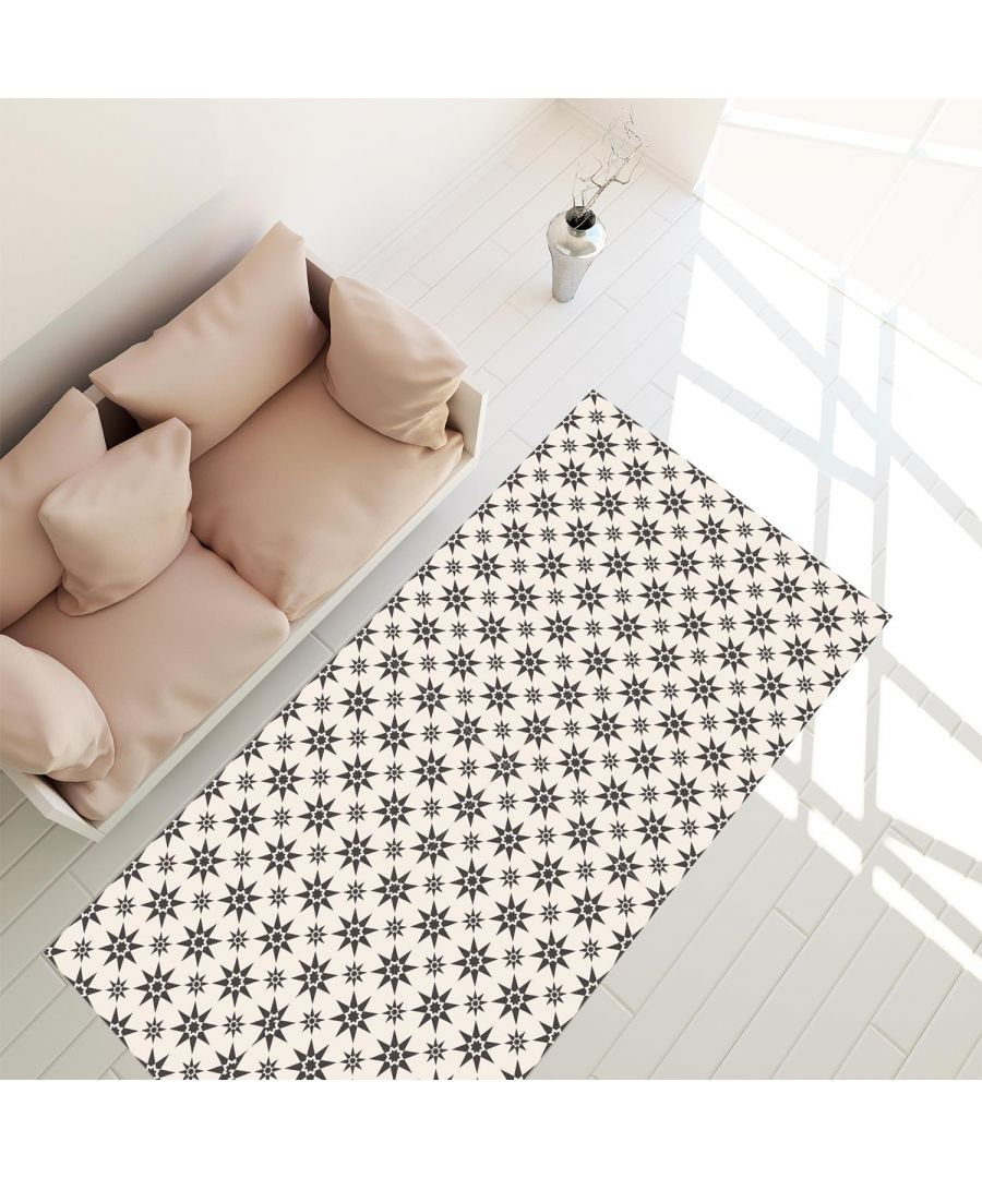 Image for Alabaster and Pebble Granada Heritage Tiles Rug Mat 120cm x 60 cm Floor Mats, Floor Rugs