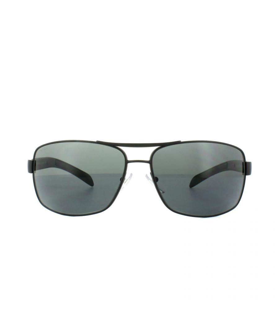 Image for Prada Sport Sunglasses PS54IS 1BO1A1 Matt Black Grey