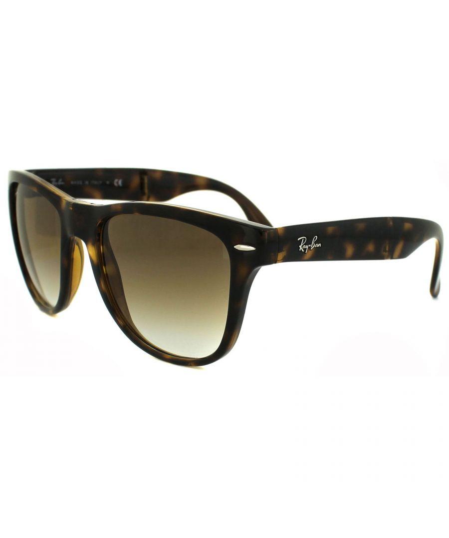 Image for Ray-Ban Sunglasses Folding Wayfarer 4105 Light Havana Brown Gradient 710/51 54mm
