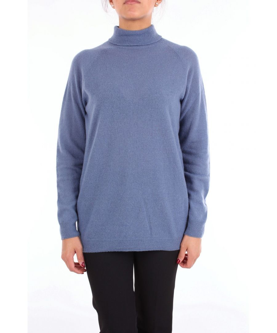 Image for ALYSI WOMEN'S 258427A8063AVION BLUE WOOL SWEATER