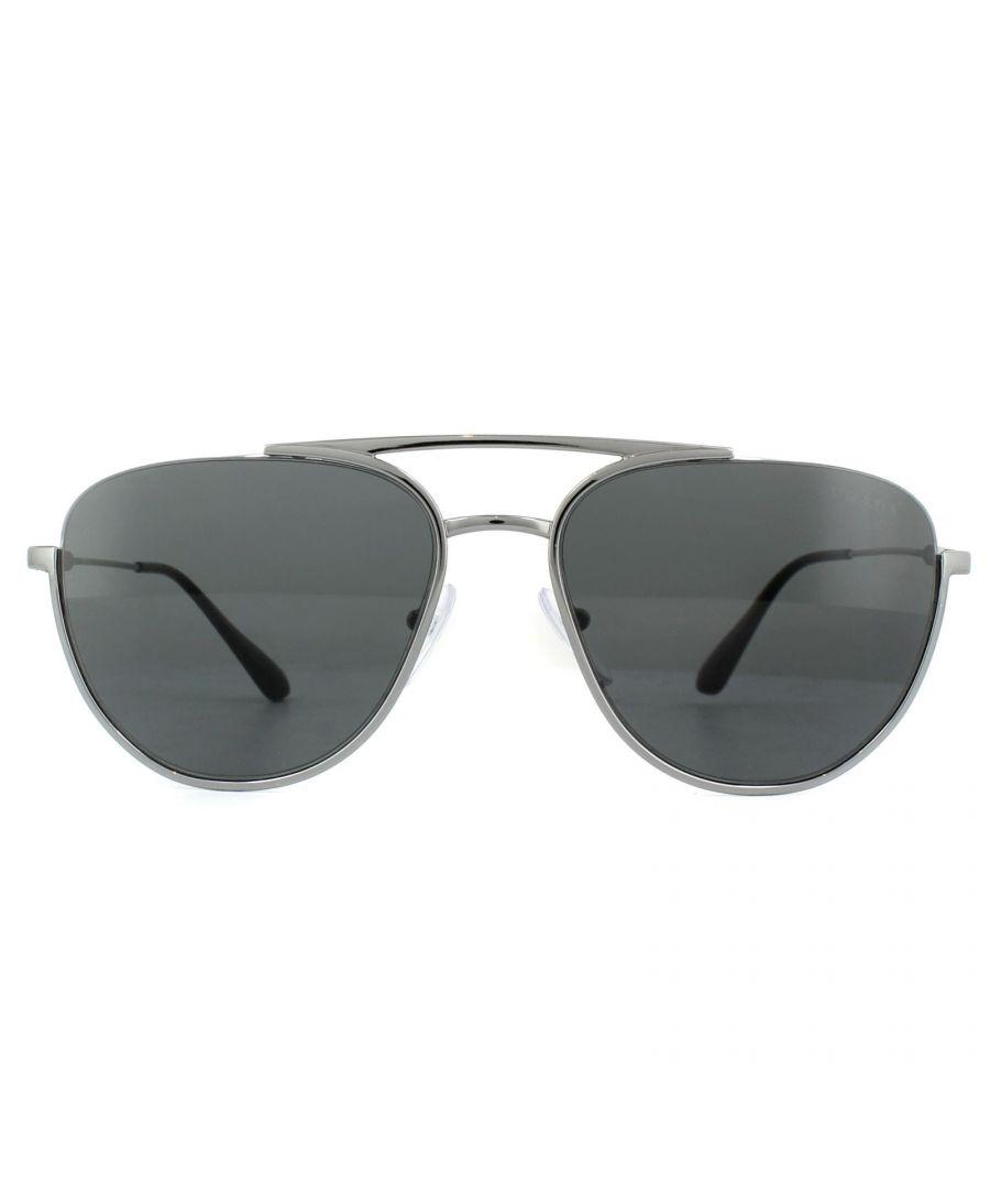 Image for Prada Sunglasses PR50US 5AV5S0 Gunmetal Grey
