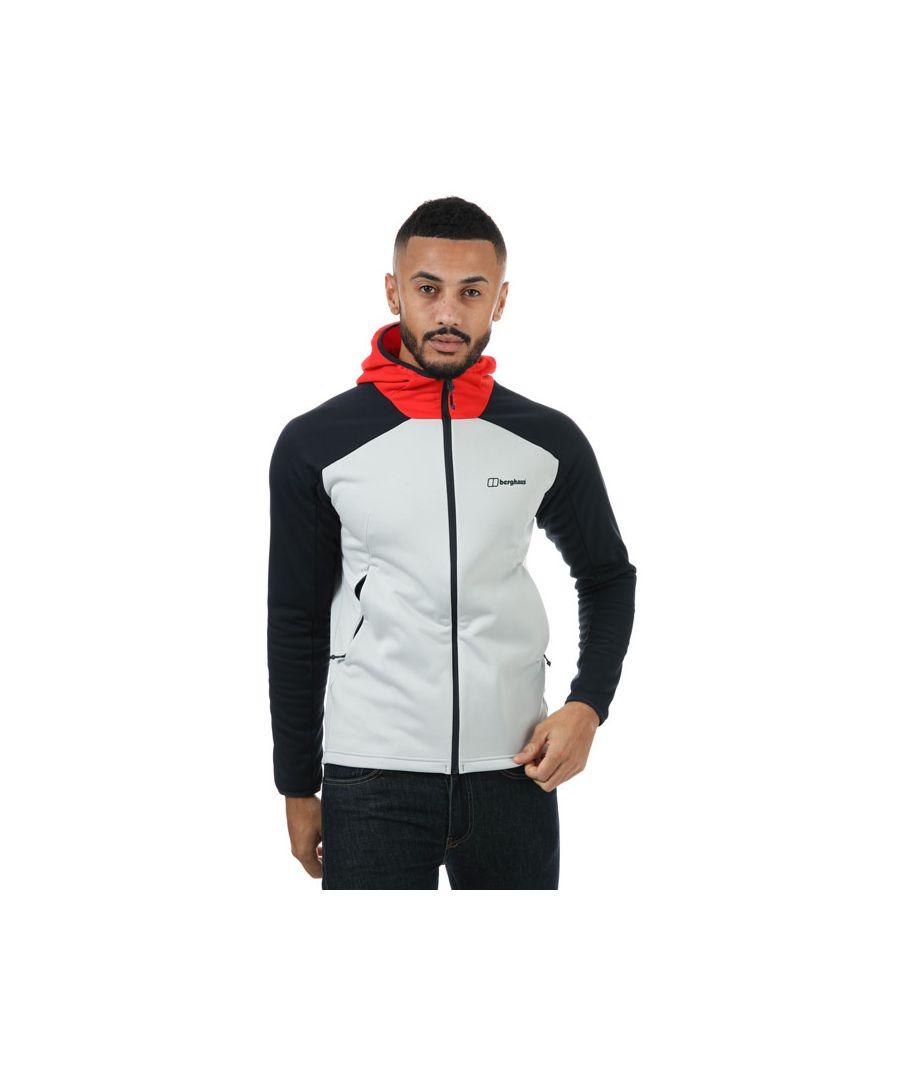 Image for Men's Berghaus Glyber Fleece Jacket in Light Grey