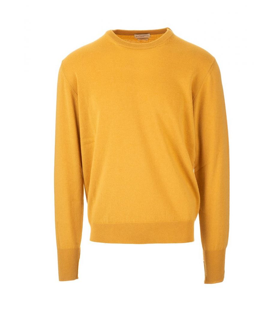 Image for BALLANTYNE MEN'S P2P00012K0010522 YELLOW CASHMERE SWEATER