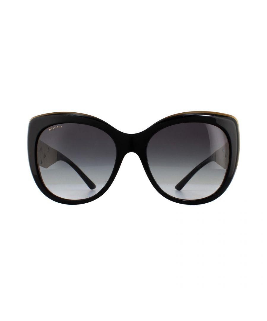 Image for Bvlgari Sunglasses BV8198B 54408G Trilayer Black Brown Gold Grey Gradient