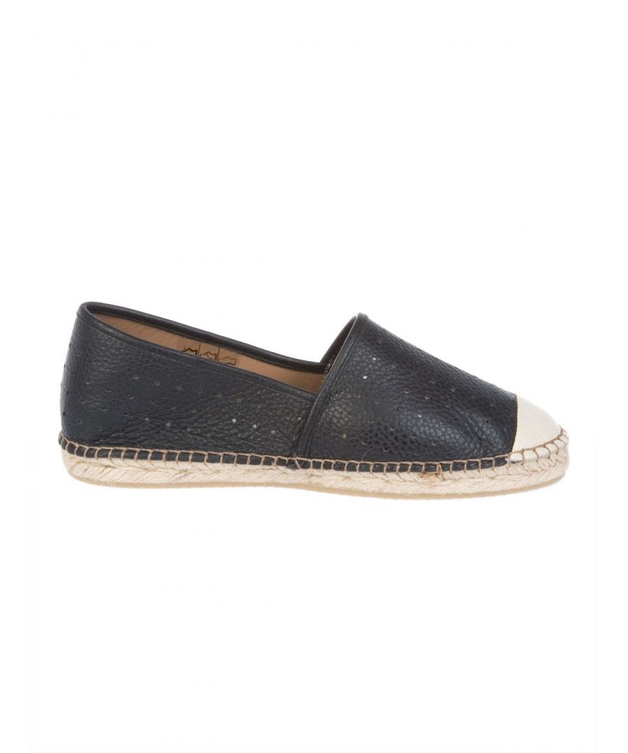 Image for LIVIANA CONTI WOMEN'S L5EY83950 BLUE LEATHER ESPADRILLES