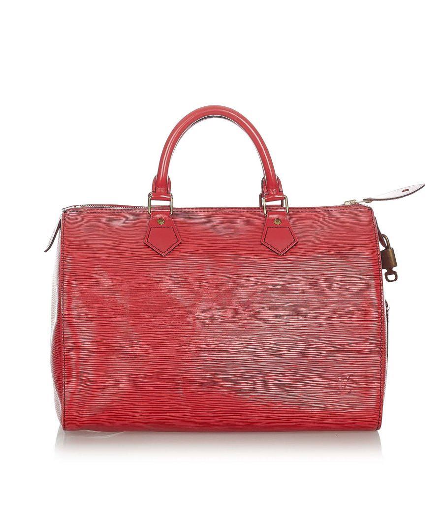 Image for Vintage Louis Vuitton Epi Speedy 35 Red