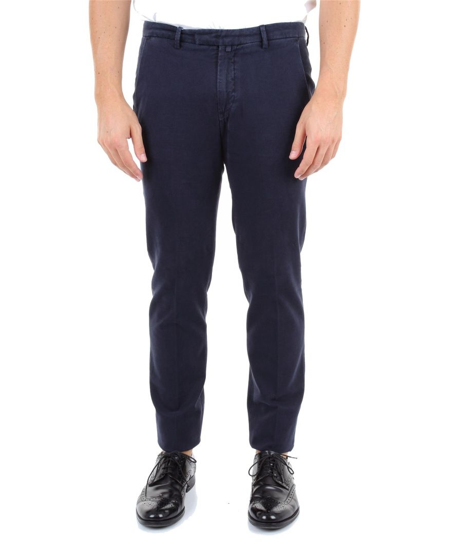 Image for BRIGLIA 1949 MEN'S BG0339577511 BLUE COTTON PANTS