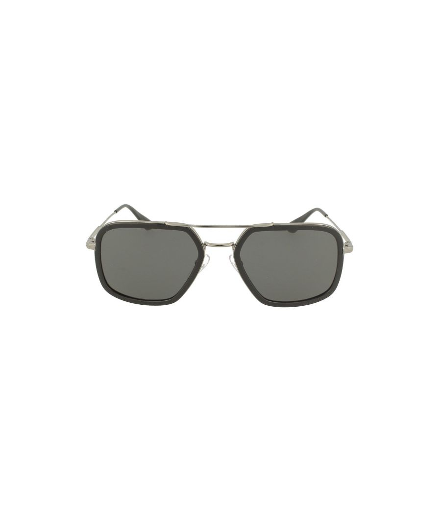 Image for PRADA MEN'S 57XSSOLEM4Y5S0 SILVER METAL SUNGLASSES