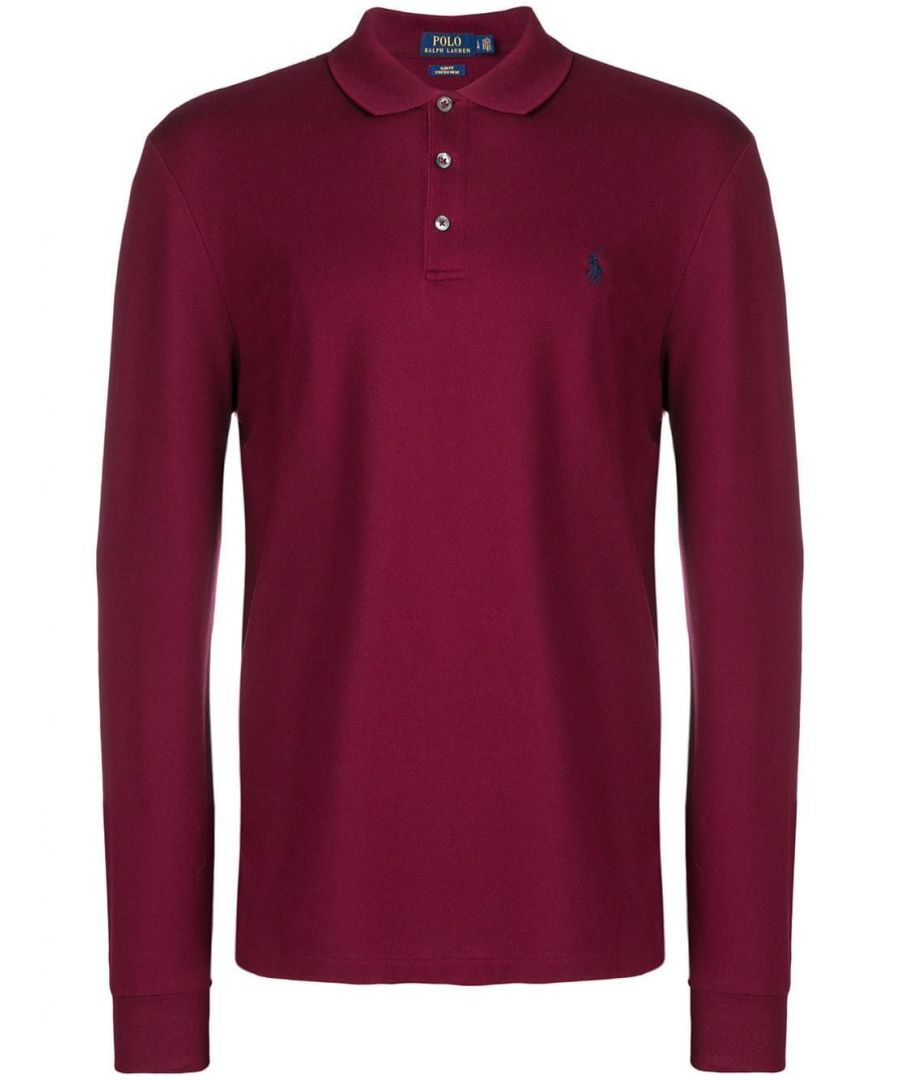 Image for RALPH LAUREN MEN'S 710717285003 BURGUNDY COTTON POLO SHIRT