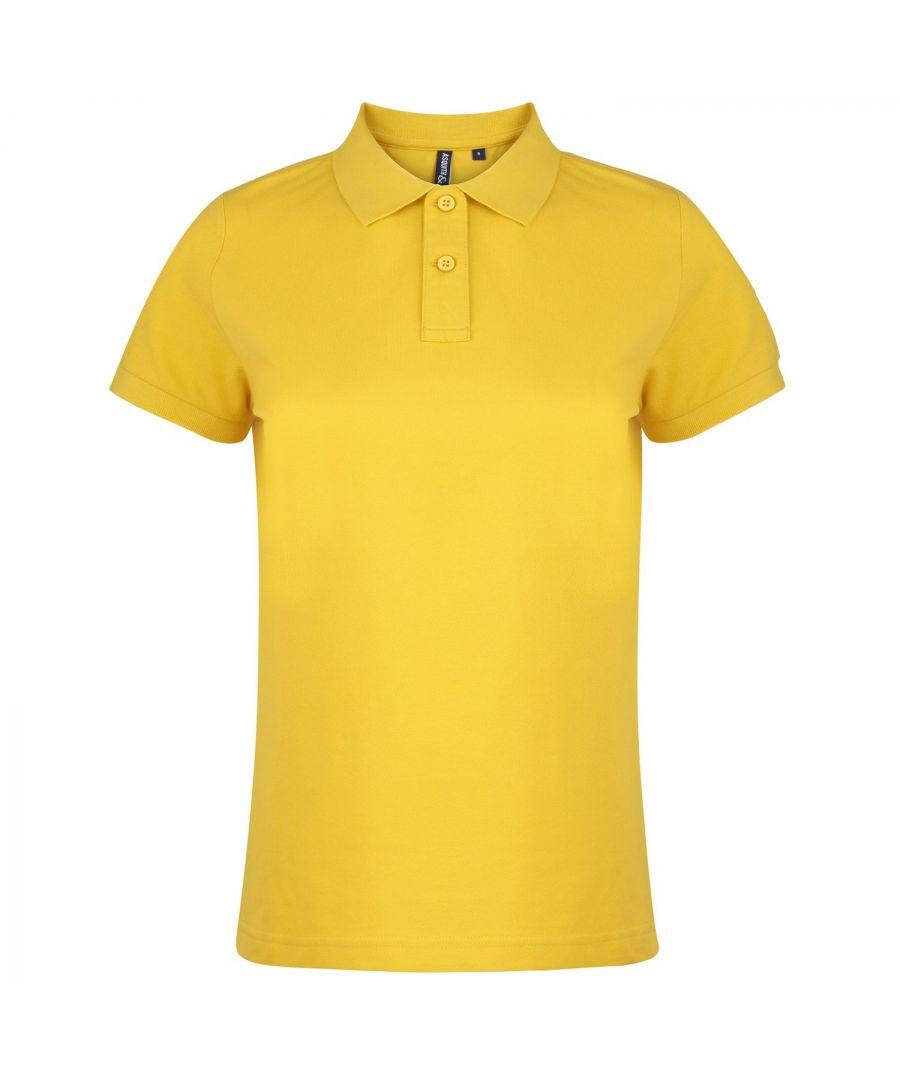 Image for Asquith & Fox Womens/Ladies Plain Short Sleeve Polo Shirt (Sunflower)