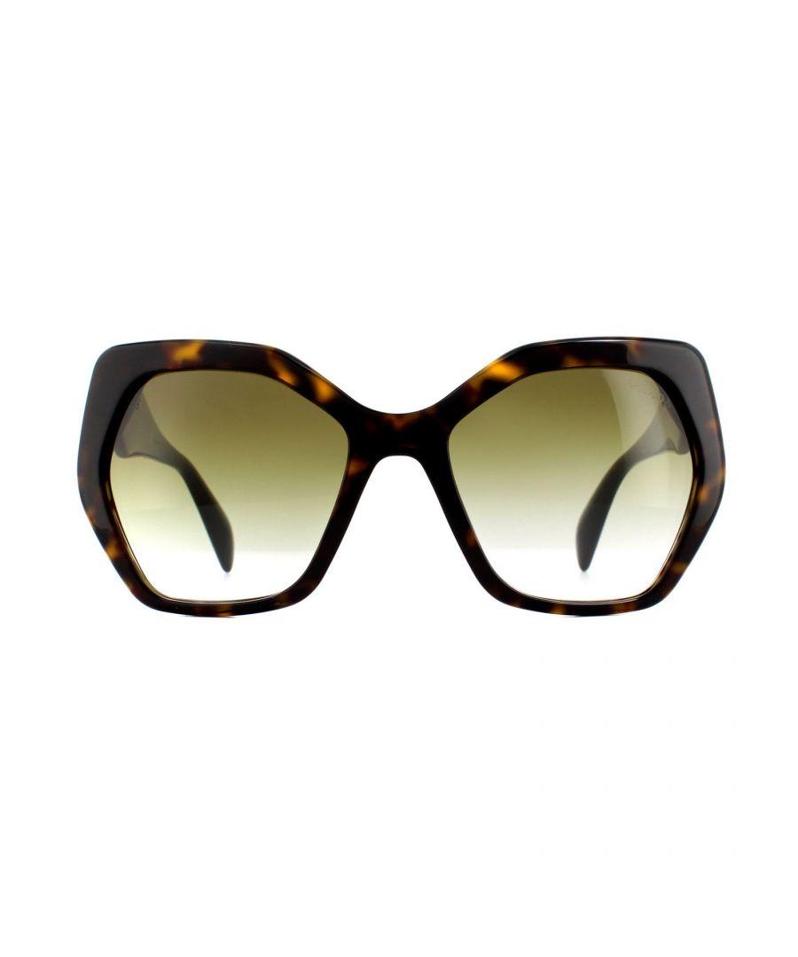 Image for Prada Sunglasses PR 16RS 2AU4M0 Havana Brown Green Gradient