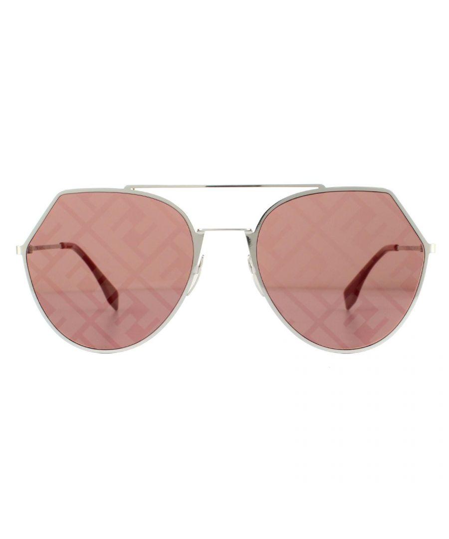 Image for Fendi Sunglasses FF0194/S 9CI/7Y Palladium Red Monogram