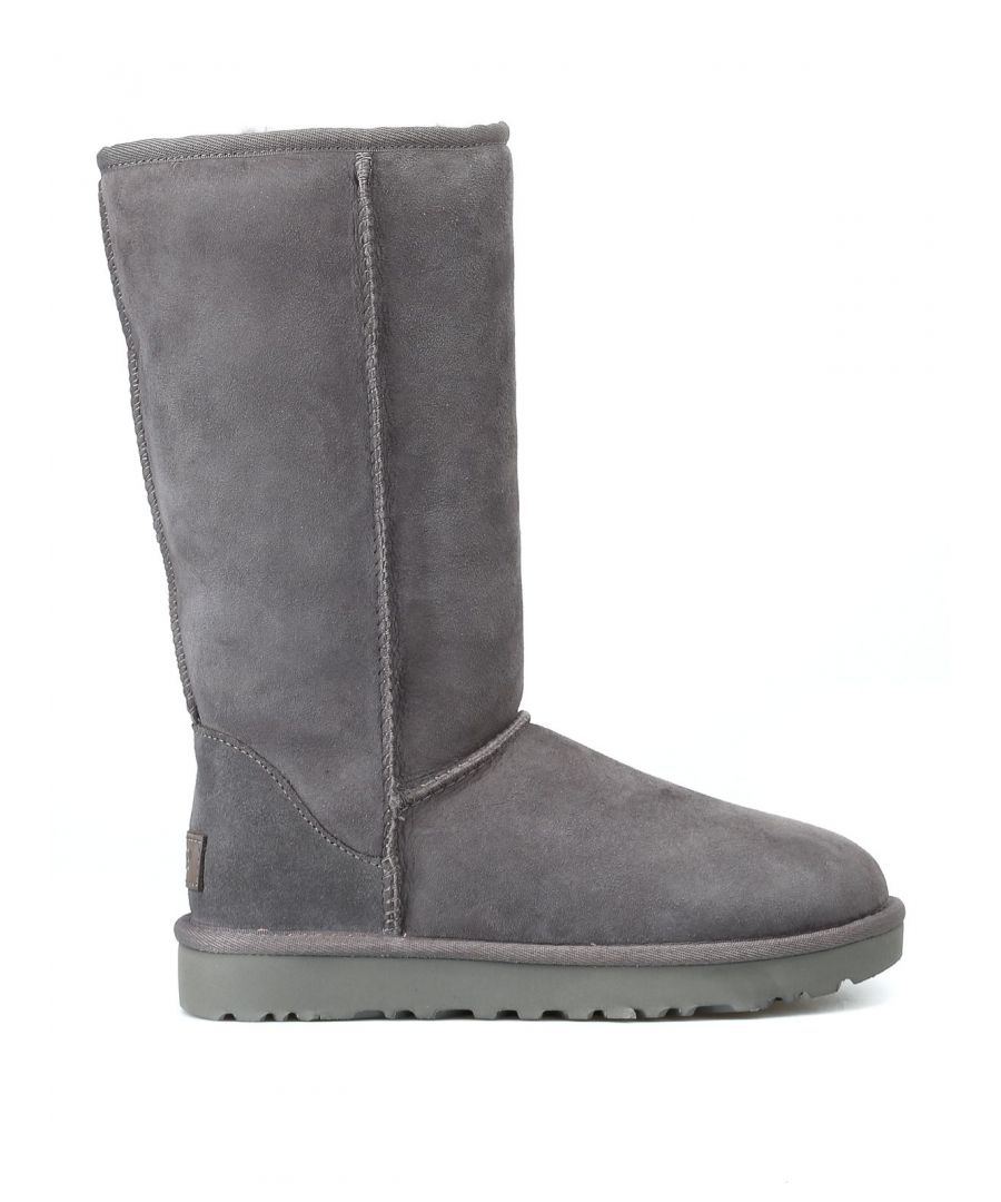 Image for UGG WOMEN'S 1016224WGREY GREY LEATHER BOOTS