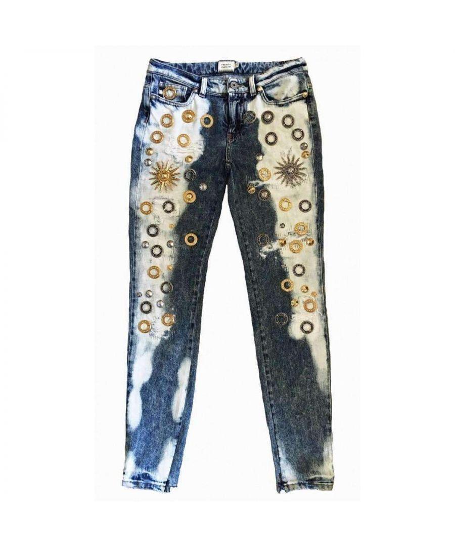 Image for Fausto Puglisi Fausto Puglisi Skinny Metal Embellishment Jeans