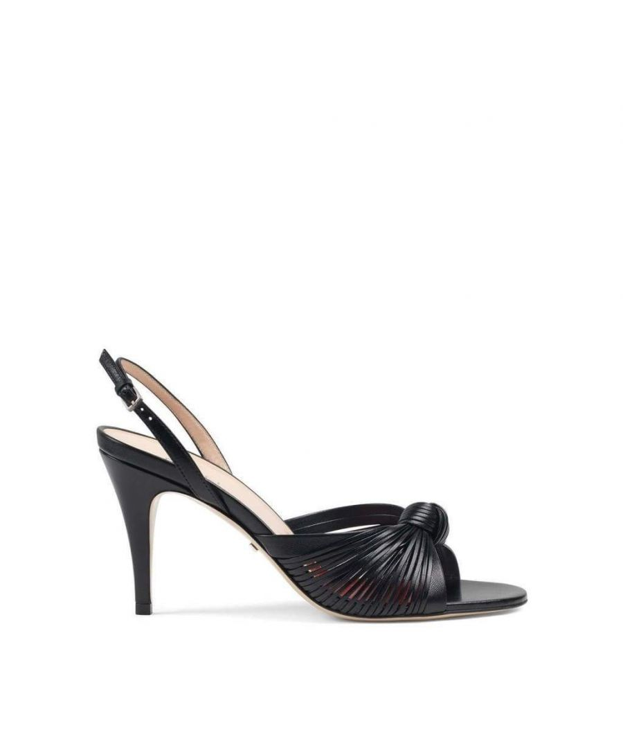 Image for Gucci Crawford Leather Slingback Sandals
