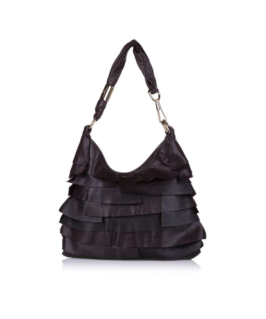 Image for Vintage Ysl Saint Tropez Leather Shoulder Bag Brown