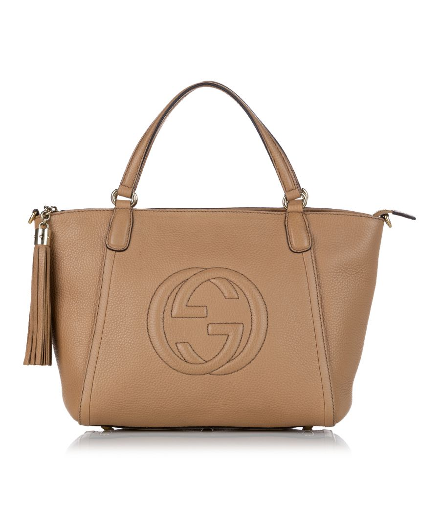 Image for Vintage Gucci Soho Cellarius Leather Satchel Brown