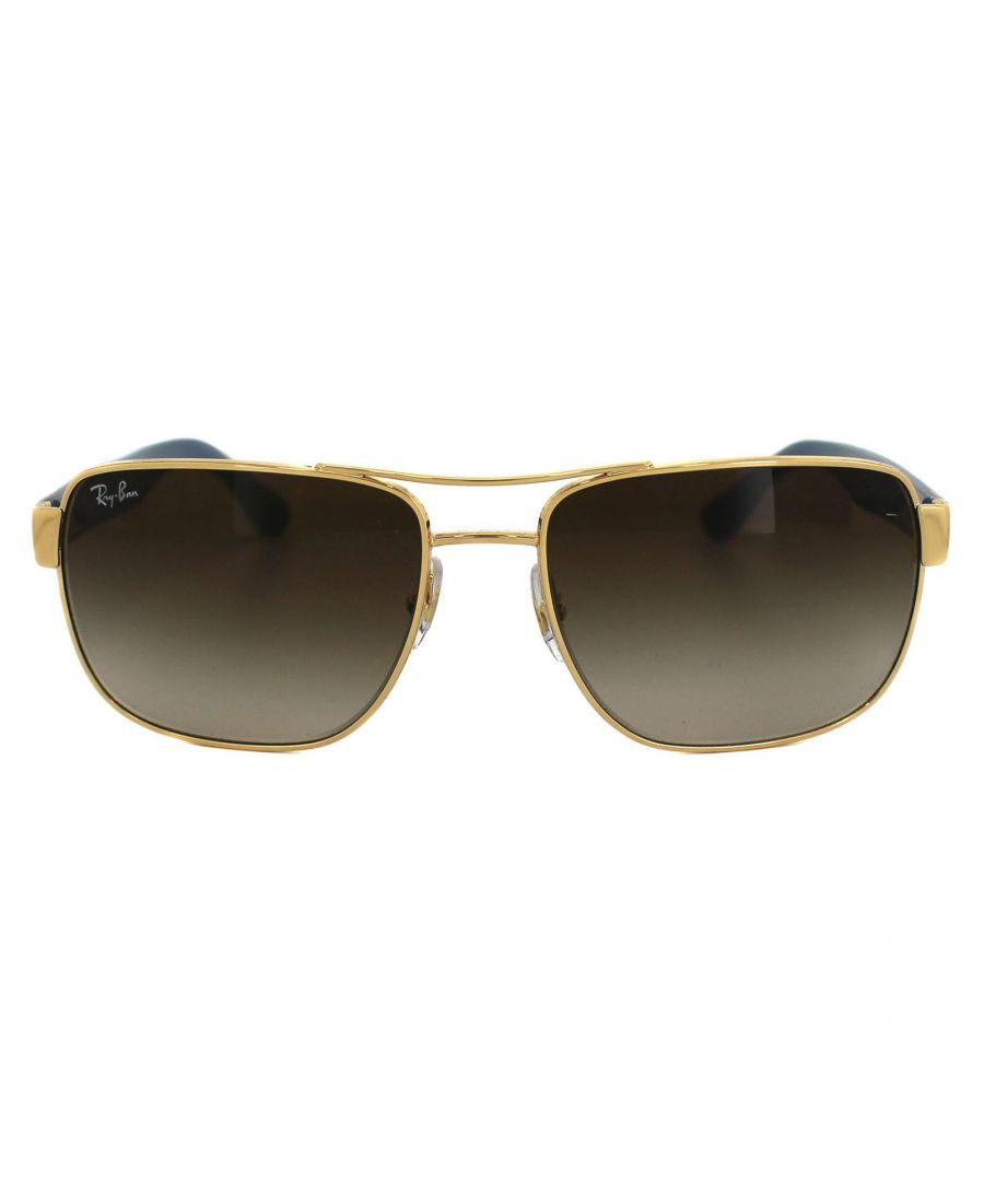 Image for Ray-Ban Sunglasses 3530 001/13 Gold & Brown Brown Gradient
