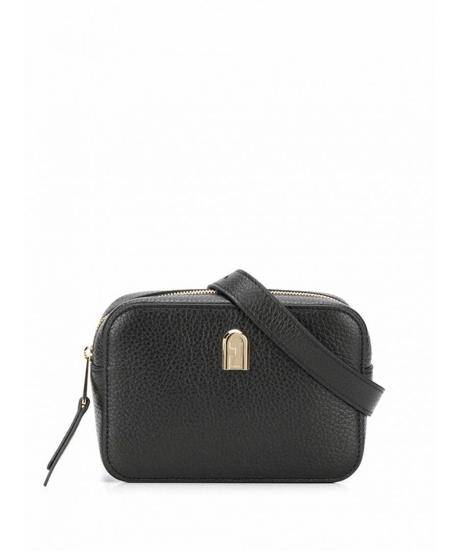 Image for FURLA WOMEN'S 1056722 BLACK LEATHER BELT BAG