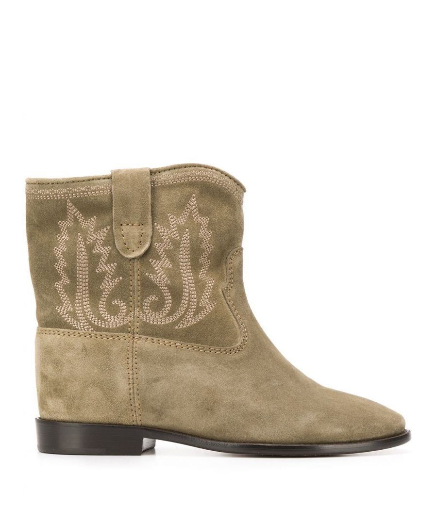 Image for ISABEL MARANT WOMEN'S BO010320P025S50TA BEIGE LEATHER ANKLE BOOTS