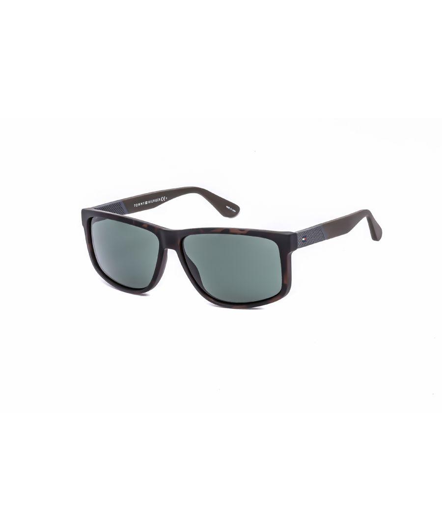 Image for Tommy Hilfiger Rectangular plastic Men Sunglasses Dark Havana (QT) / Green
