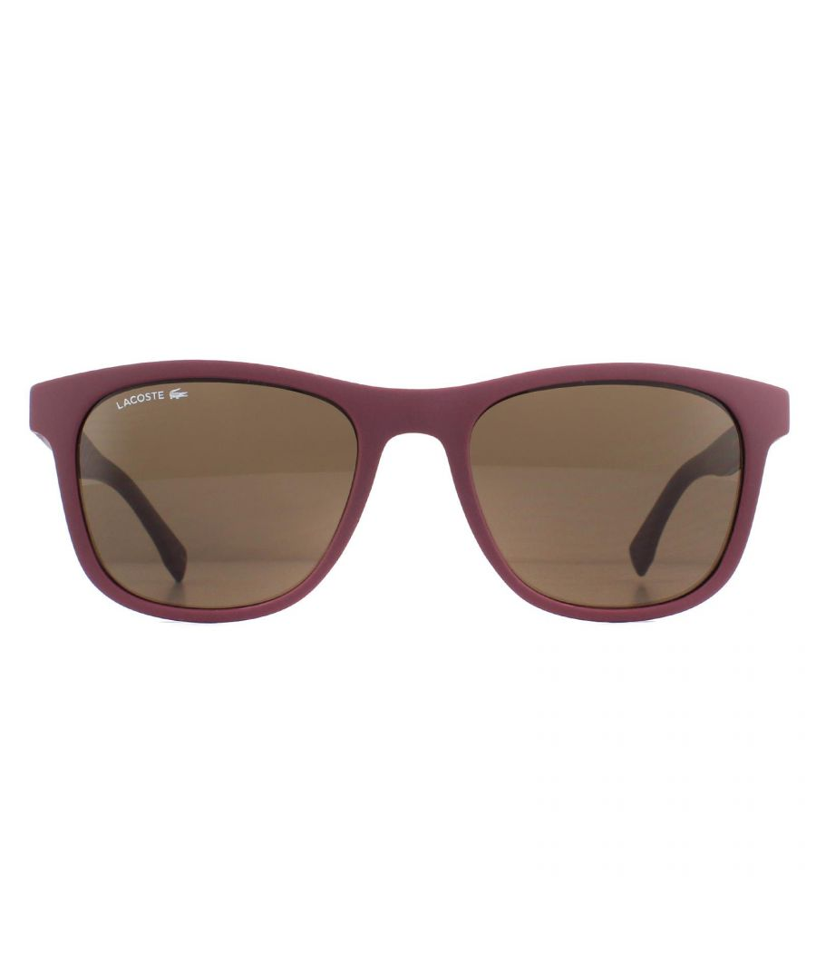 Image for Lacoste Sunglasses L884S 604 Matte Burgundy Brown