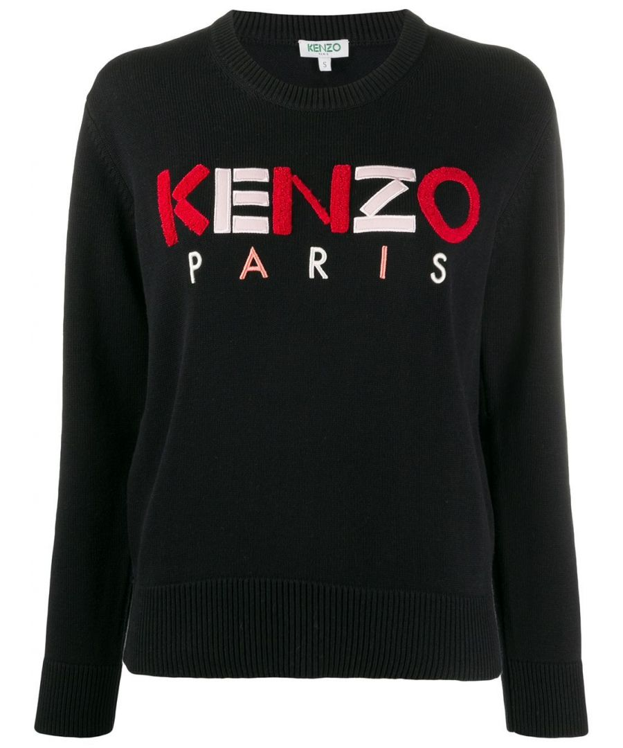 Image for KENZO WOMEN'S FA52PU50780899 BLACK COTTON SWEATER