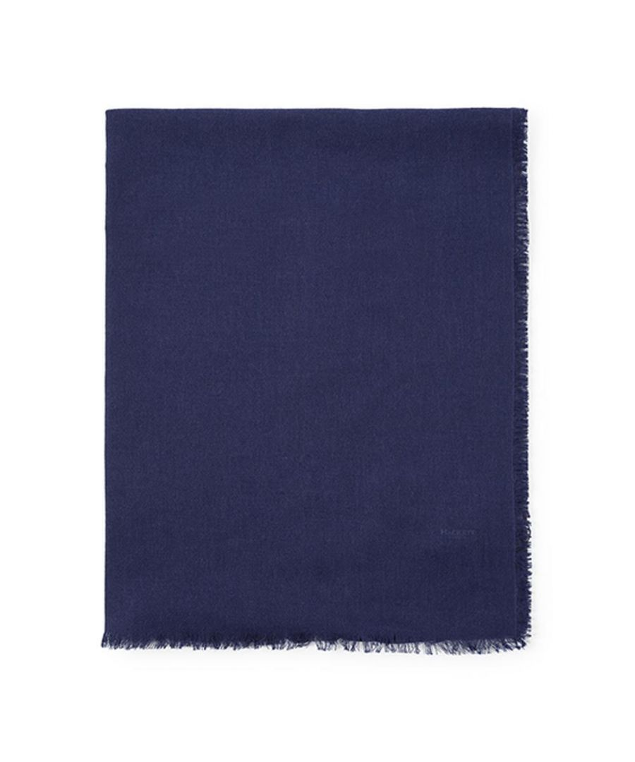 Image for Men's Hackett, Solid Marl Scarf in Navy