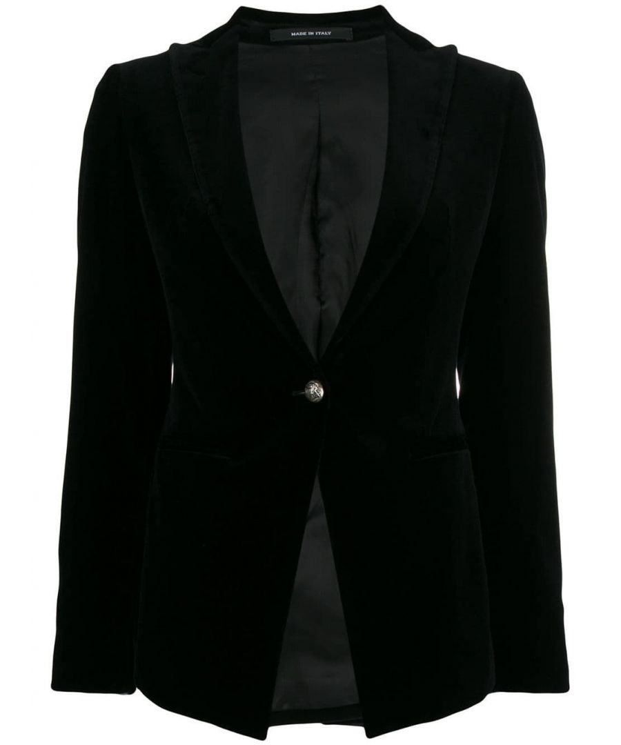 Image for TAGLIATORE WOMEN'S JGILDA80043N1223 BLACK OTHER MATERIALS BLAZER