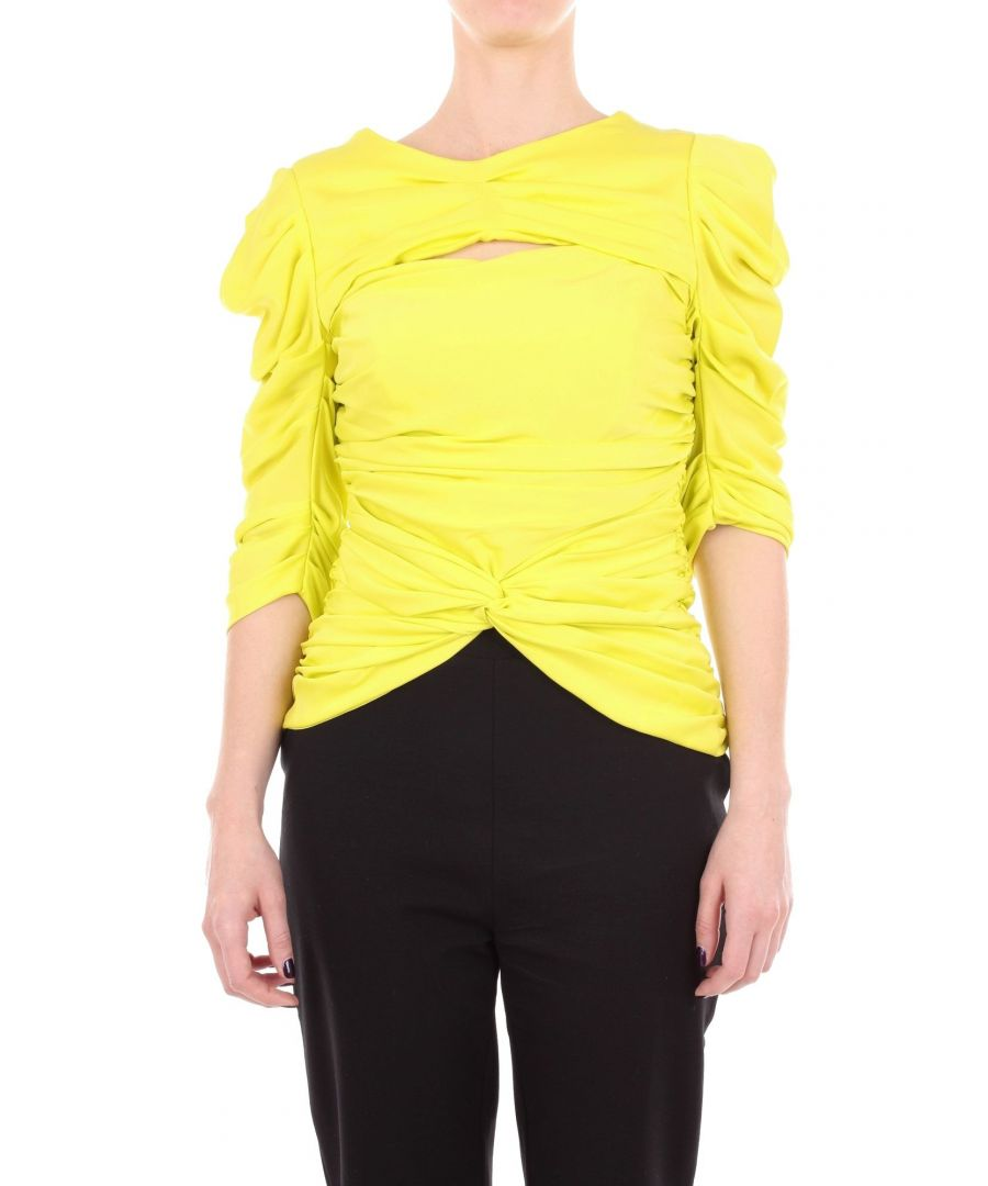 Image for VIONNET WOMEN'S 010T112950071 YELLOW SILK JUMPER
