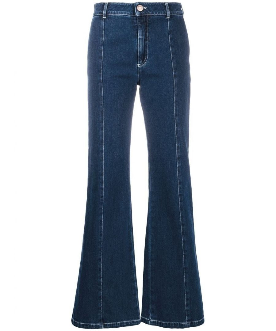 Image for SEE BY CHLOÉ WOMEN'S CHS19WDP011504B7 BLUE COTTON JEANS