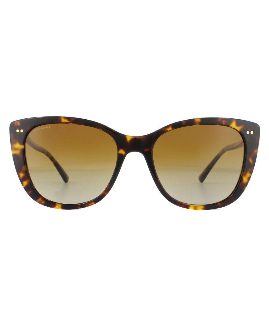Image for Bvlgari Sunglasses BV8220 504/T5 Dark Havana Brown Gradient Polarized