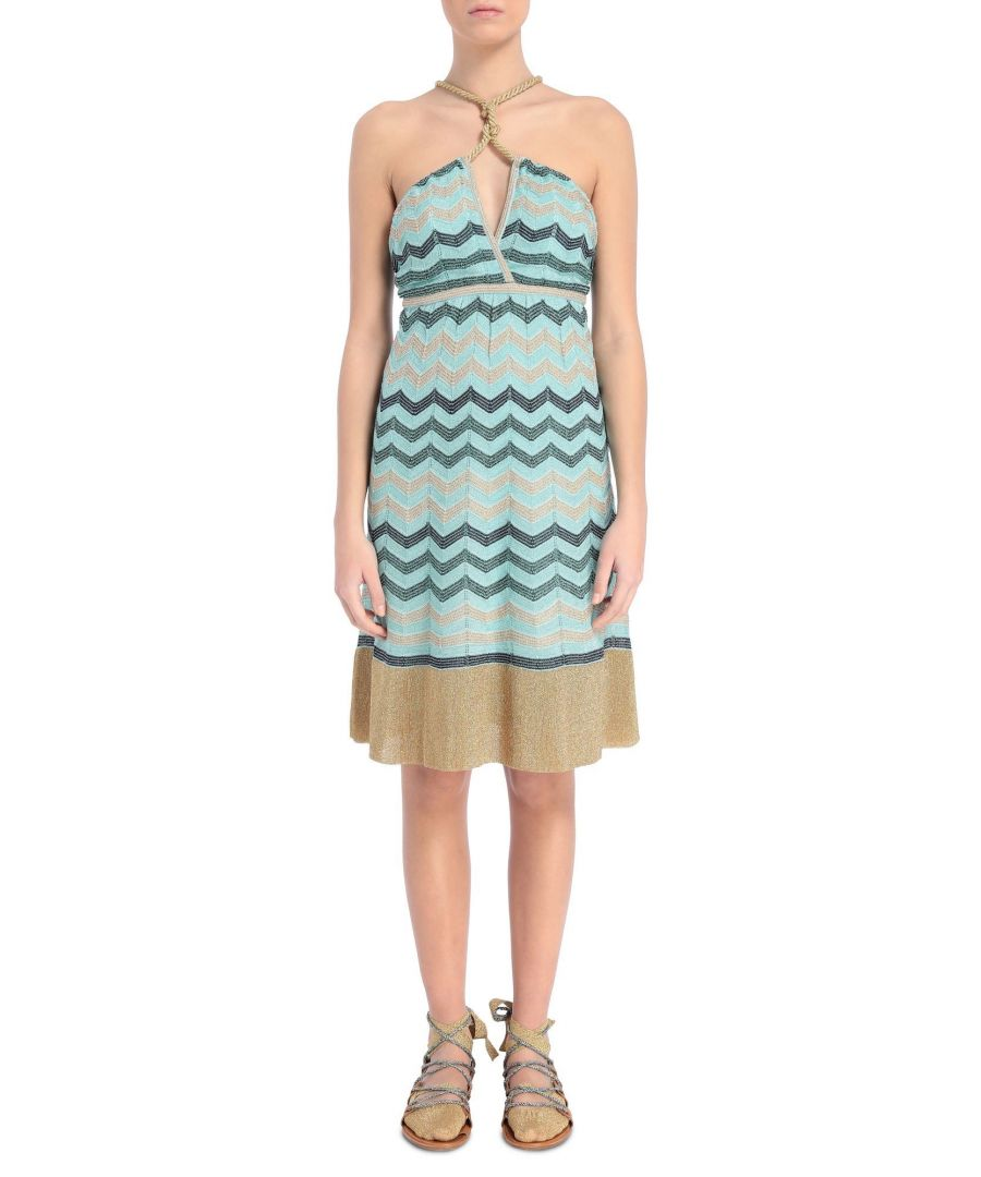 Image for M MISSONI WOMEN'S 2DG001262K001BL700L LIGHT BLUE POLYESTER DRESS