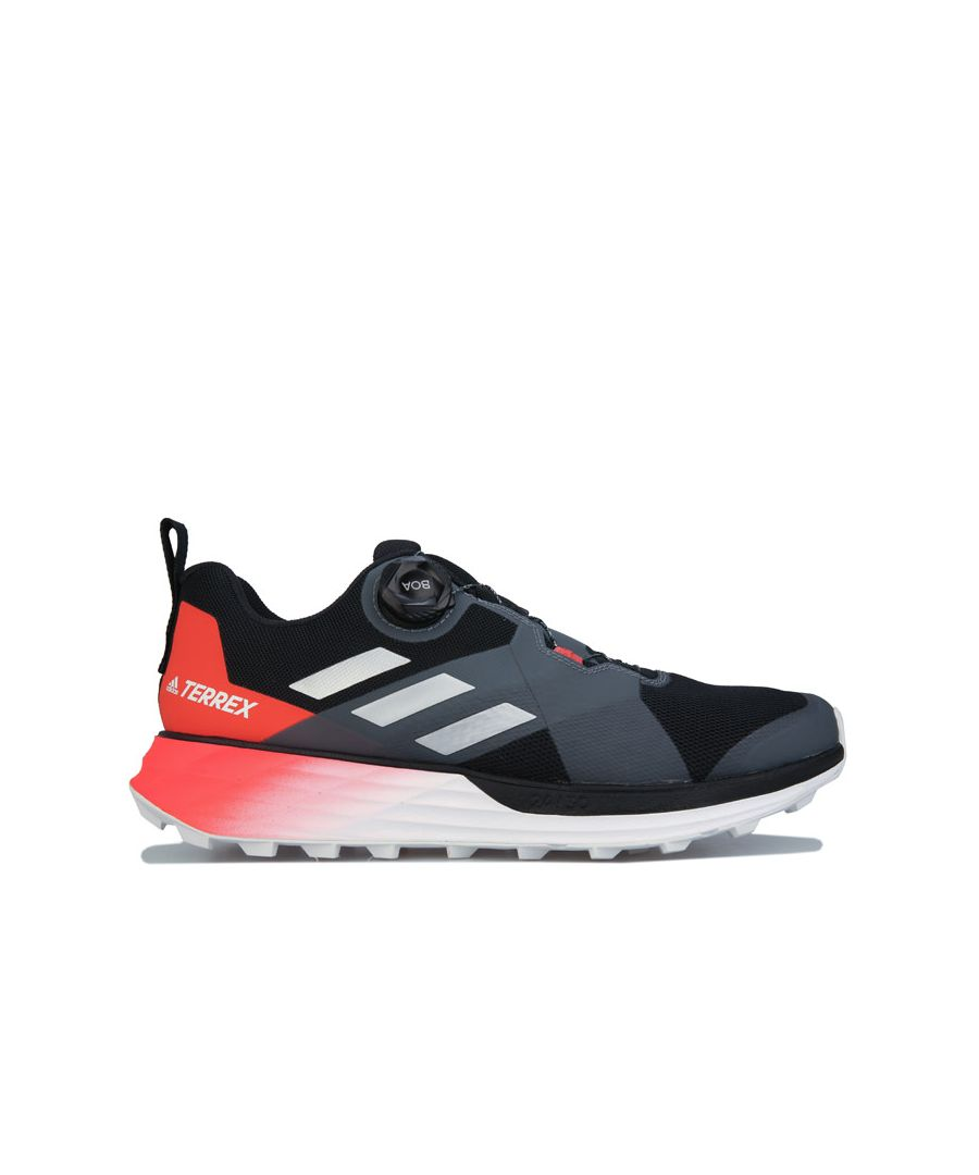 Image for Men's adidas Terrex Two Boa Trail Running Shoes in Black