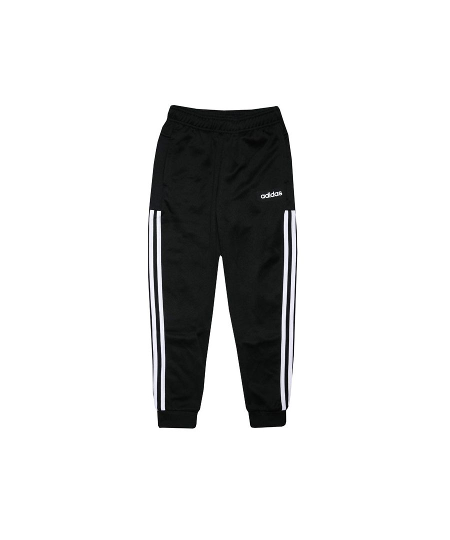 Image for Boy's adidas Junior Cuffed Track Pants Black