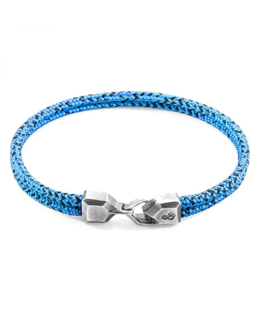Image for ANCHOR & CREW Blue Noir Cromer Silver and Rope Bracelet