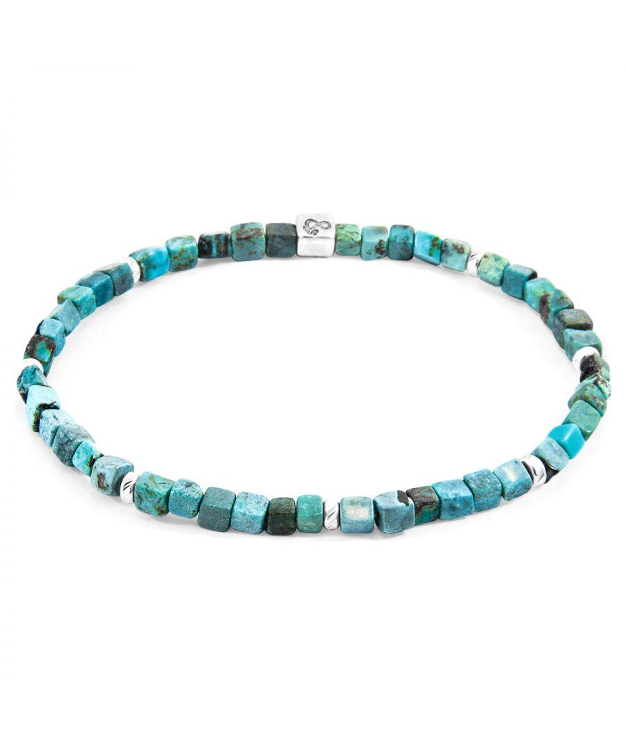 Image for ANCHOR & CREW Turquoise Blue Tekapo Silver and Stone Bracelet
