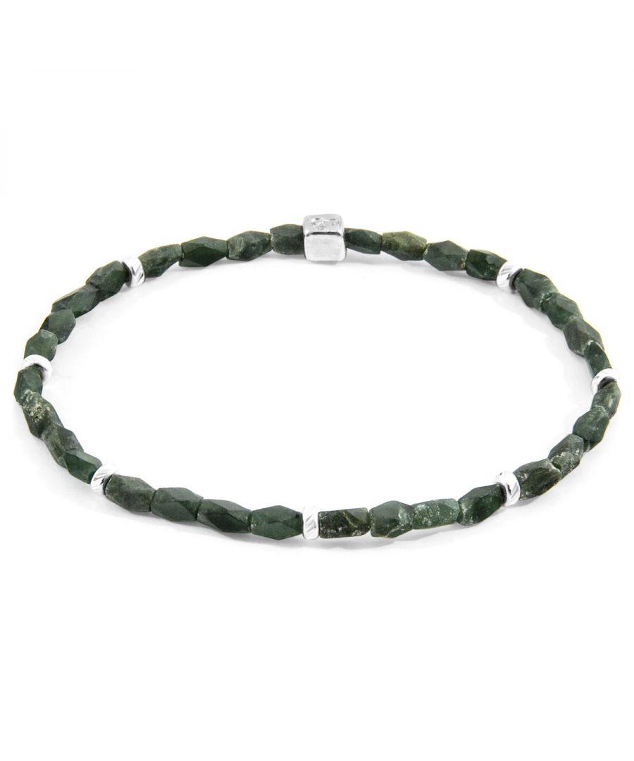 Image for ANCHOR & CREW Green Jade Tekapo Silver and Stone Bracelet