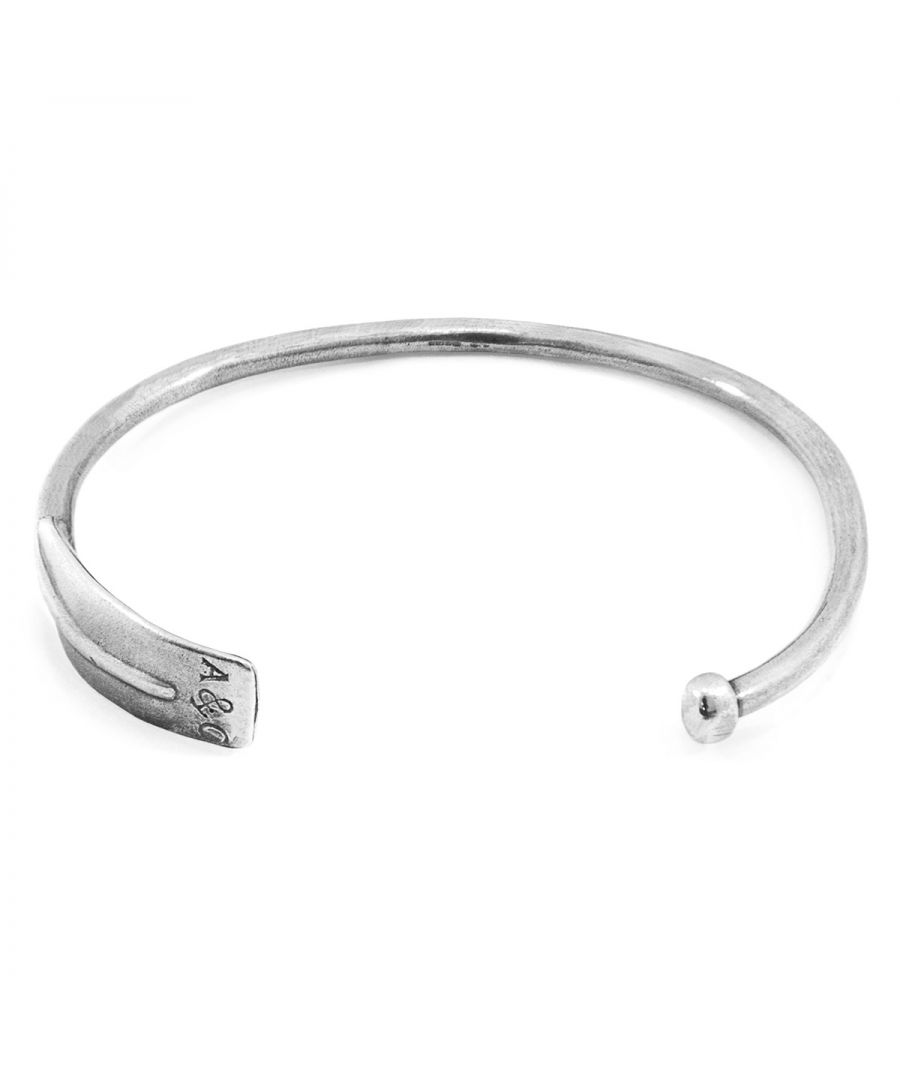 Image for ANCHOR & CREW Paddle Navigation Silver Bangle
