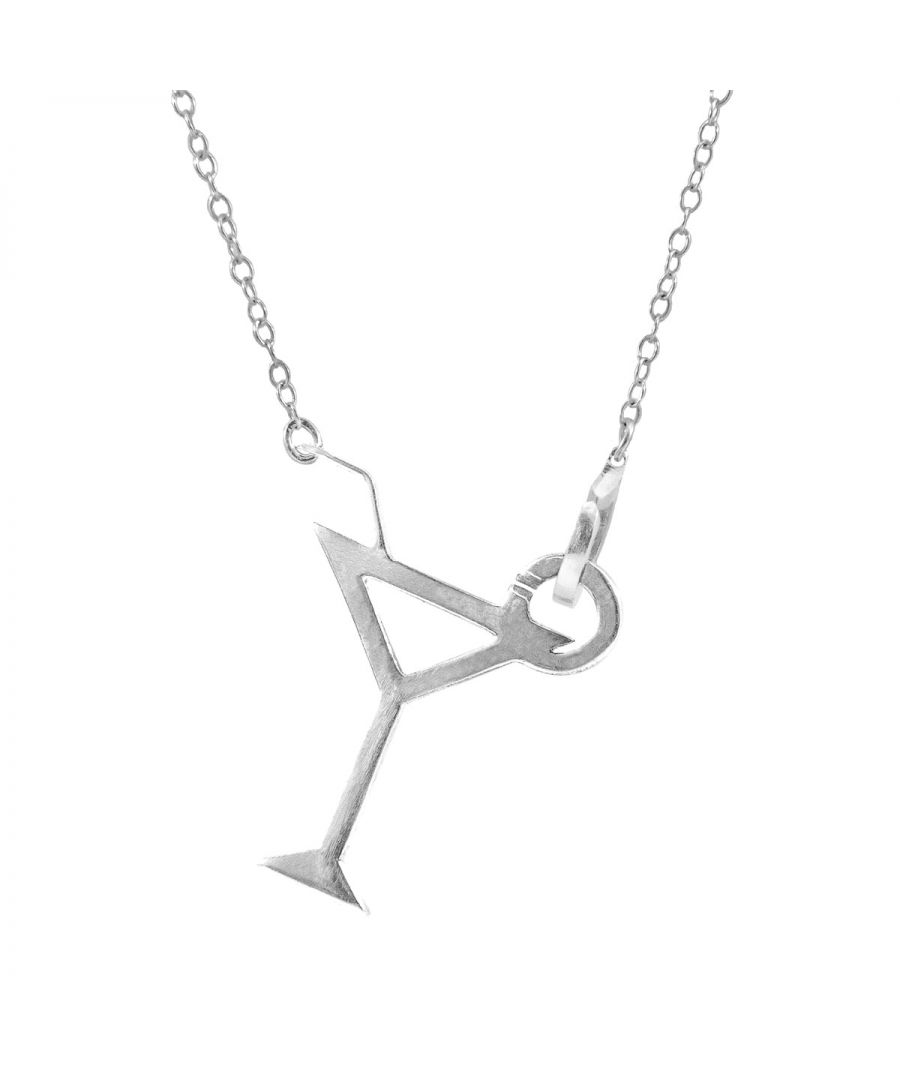 Image for ANCHOR & CREW Beach Cocktail Link Paradise Silver Necklace Pendant
